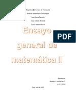 Ensayo general (Matematica II) Rdolfo Velazquez