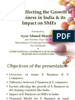 Factors Affecting Growth of E Business in India - SZABIST - ICTBM2011