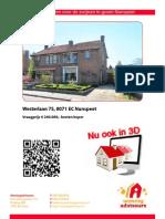 Brochure Westerlaan 75 Te Nunspeet