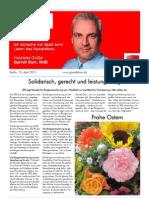 Newsletter April 2011 II