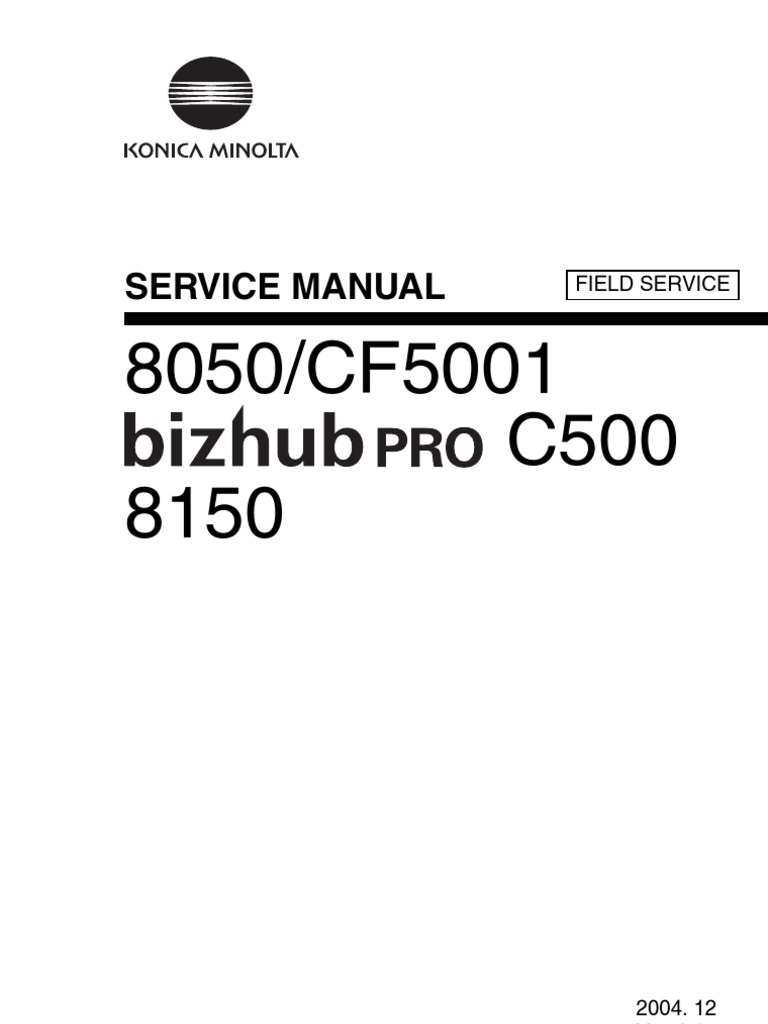SvcField8050_C500_CF5001MANUAL | Ac Power Plugs And Sockets | Reliability  Engineering