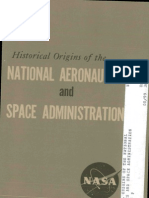 Historical Orgins of the National Aeronautics and Space Administration