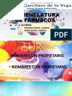 Nomenclatura de Farmacos (1)