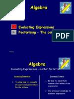 Algebra- Factorization