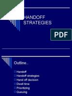 HANDOFF STRATEGIES