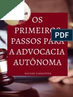 Os Primeiros Passos Para a Advocacia Autônoma - REDUZIDA
