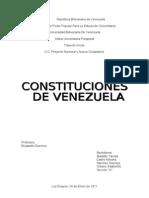 CONSTITUCIONES DE VENEZUELA