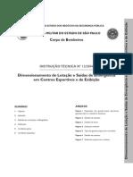 Instrucao Tecnica  - 12_2004 DIMENSIONAMENTO DE LOTAÇÃO SAÍDA DE EMERGENCIA EM CENTROS ESPORTIVOS E DE EXPOSIÇÕES