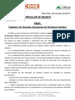 Circular Nº 09_2019 - Cadastro de Grandes Geradores de Resíduos Sólidos - PMSP (II)