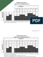 Blank Curriculum Grid