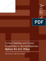 Myanmar Options for U S Policy Asia Society Task Force Report