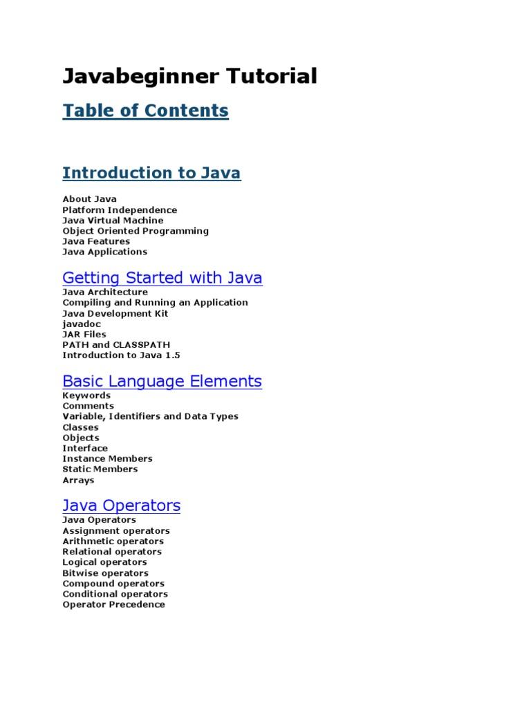 Javabeginner Tutorial   Java (Programming Language)   Class