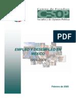 Empleo y desempleo 1994-2004
