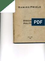 Rarmiro Prialé - Discursos Políticos. 1960