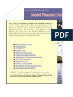 Indian Financial Statement Excel Audit Software