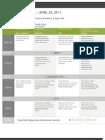 RMG2011 Schedule-Wednesday