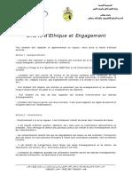 Charte d'Ethique Et Engagement