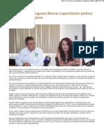 12-04-11 Anuncia Cesar Augusto Marcor capacitación política gratuita para mujeres -PERCEPCION