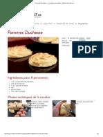 Pommes Duchesse - La recette avec photos - MeilleurduChef
