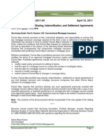 Announcement SVC-2011-04 Prohibitions on Loss Sharing, Indemnification, And Settlement Agreements With Mortgage Insurers