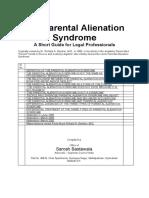 Short Guide - The Parental Alienation Syndrome