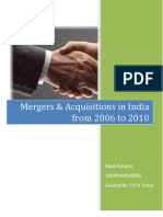Mergers and Acquisitions in India 2006-2010