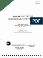 Progress of the X-15 Research Airplane Program