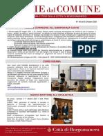 Notizie Dal Comune di Borgomanero dell'8-10-2021