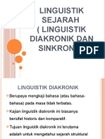 LINGUISTIK SEJARAH (LINGUISTIK DIAKRONIK)