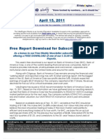ValuEngine Weekly newsletter April 15, 2011