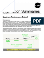 NASA Information Summaries Maximum Performance Takeoff