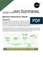 NASA Information Summaries Maximum Performance Takeoff