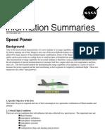 NASA Information Summaries Speed Power