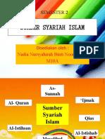 SUMBER SYARIAH ISLAM