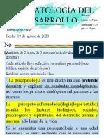 Psicopatología del desarrollo Libreto