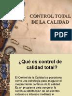 DIAPOSITIVAS CONTROL TOTAL DE LA CALIDAD