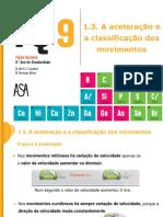 Aceleração e classificação dos movimentos pdf