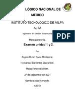 Examen de Mercadotecnia