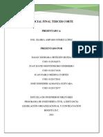 PARCIAL TERCER CORTE LEGISLACION ORGANIZACIONAL
