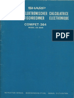 Sharp 364R Electronic Calculator