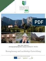 Tagungsband 06 Raumplanung Und Nachhaltige Entwicklung 2012 Lesachtal