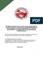 Informe de Assessment - Ciencia Politica (Primer Semestre, 2010-2011)