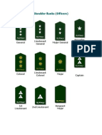 Philippine Army - Shoulder Ranks