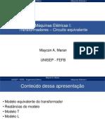 Aula 2b - Maquinas I - Transformadores - Circuito equivalente