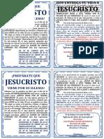 Volante Evangelístico PREPÁRATE QUE JESUCRISTO VIENE POR SU IGLESIA (Juan Bautista)