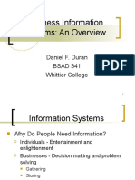 BSAD 341 Business Informaton Systems