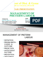 divya- recent guidlines inmanagement of preterm labour