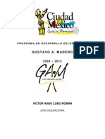 Programa Desarrollo Delegacional Gustavo A. Madero 2009-2012