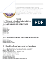 Numerología AILEXIN