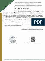Declaração de Cursando César Augusto Venâncio Da Silva - Direito Do Trabalho